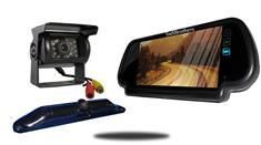 5th Wheel Backup Camera System with a 7-Inch Mirror and 2 Backup Cameras