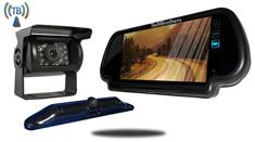 5th Wheel Wireless Backup Camera System with a 7-Inch Mirror and 2 Backup Cameras