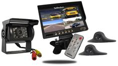 Rear-View System for RVs with 3 Cameras and Backup Monitor