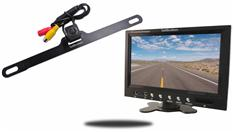 7-Inch Monitor with Concealed License Plate Backup Camera