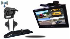 RV or Trailer Rear View System with 4 Wireless Backup Cameras and Monitor