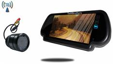 Wireless Bumper Backup Camera with Rear View Mirror Monitor