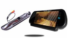 7-Inch Mirror with CCD Steel License Plate Backup Camera