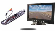 7-Inch Monitor with CCD Silver License Plate Backup Camera