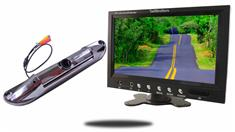 9-Inch Monitor with CCD Black License Plate Backup Camera