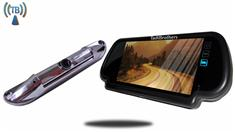 7-Inch Mirror with Wireless CCD Steel License Plate Backup Camera