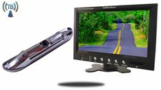9-Inch Monitor with Wireless CCD Steel License Plate Backup Camera