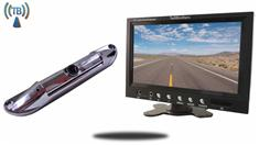 "7"" Monitor with Wireless CCD Steel License Plate Night vision Backup Camera"