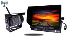 "7"" Monitor with Built In Wireless CCD Mounted RV Backup Camera"