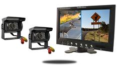 "7"" Split Monitor and two 120° Mounted RV Backup Cameras (RV Backup System)"