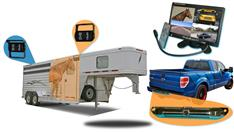 "7"" Horse Trailer 3 camera System with Two 120° Birds Eye View and 1 Rear Truck Camera"