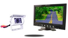 9-Inch Monitor and a 120° Mounted White RV Backup Camera