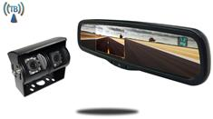 4.3-Inch Full Mirror Replacement Monitor and a 120° Double Mounted Wireless RV Backup Camera (RV Backup System)