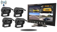 Rear View Wireless Backup System for RVs with 4 Cameras and Monitor