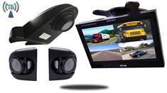 Wireless Overhang Backup Camera with 2 Side Cameras and Rear View Monitor