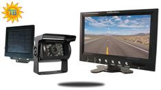 Solar Powered Wireless Backup Camera with Rear View Monitor for RV