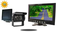 9-Inch Monitor with Solar Powered Wireless Mounted RV Backup Camera