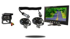 9-Inch Monitor with Quick Disconnect and 120° Mounted RV Backup Camera (RV Backup System)