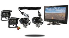 """7"""" Monitor with Quick Disconnect and two 120° Mounted RV Backup Cameras (RV Backup System)"""