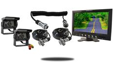 9-Inch Monitor with Quick Disconnect and two 120° Mounted RV Backup Cameras (RV Backup System)