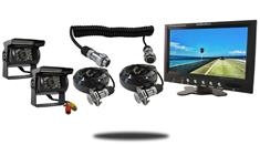 10.5-Inch Monitor with Quick Disconnect and two 120° Mounted RV Backup Cameras (RV Backup System)
