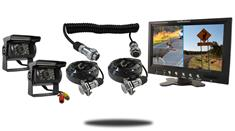 """9"""" Split Monitor with Quick Disconnect and two 120° Mounted RV Backup Cameras (RV Backup System)"""