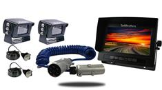 """7"""" Heavy Duty Monitor with Industrial Quick Disconnect and two 120° Mounted RV Backup Cameras (RV Backup System)"""
