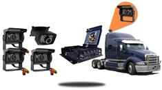 4.3-Inch Mobile DVR for Trucks    (4 Camera System)