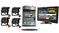 RV Mobile DVR with 4 Rear View Cameras and a 7-inch Screen
