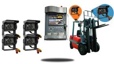 Forklift Rear View system with DVR and 4 Cameras (360 Degree View)
