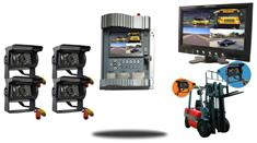 Forklift 4.3-Inch Premium SD Mobile DVR and 7-Inch Split Screen (4 Camera System)