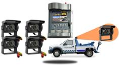 Tow Truck Mobile DVR with 4 Rear View Camera System