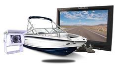 """Boat Backup Camera (7"""" Monitor with Mounted Box Camera)"""