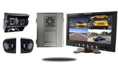 Premium SD Mobile DVR with 7-Inch Split Screen with Side Cameras (4 Camera System)