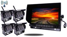9-Inch Monitor with 4 Built In Digital Wireless Mounted RV Backup Cameras [Commercial Grade]