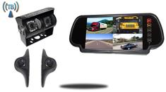 7-Inch Ultimate Wireless Mirror RV Backup Camera System with Double CCD RV Camera