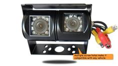Double 120° RV Backup Camera (Hi-Res CCD) (Birds Eye View)