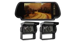 2 RV Backup Cameras with a Rear View monitor for a Camper Trailer