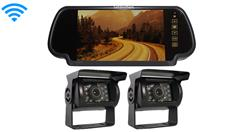 2 Wireless RV Backup Cameras with a Rear View monitor for a Camper Trailer