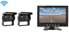 2 Wireless Mounted RV Backup Cameras with Rear View Monitor