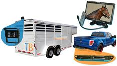 Horse Trailer Rear View System including 1 trailer and 1 truck camera with Monitor