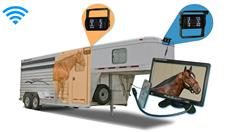 Horse Trailer Rear View System with 2 Wireless Backup Cameras and Monitor