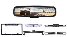 License Plate Backup Camera with Full Replacement Mirror Monitor