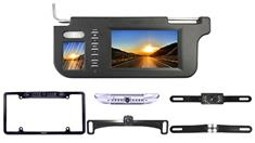 License Plate Backup Camera with Visor Replacement Monitor