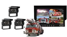 Fire Truck Rear View System 3 Backup Cameras and Monitor