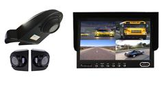 Overhang Backup Camera with 2 Side Cameras and Rear View Monitor