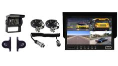RV Backup Camera System with Quick Disconnect 3 Cameras and Split Screen Monitor