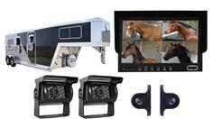 Horse Trailer Surveillance System with 2 Roof Cameras 2 Side Cameras and a Monitor
