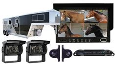Horse Trailer Backup System With 5 Cameras and a Rear-View Monitor