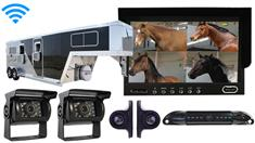 Horse Trailer Backup System With 5 wireless cameras and a Rear-View Monitor